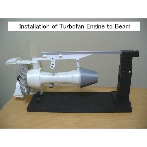 C03-Engine-Beam01.jpg Download STL file Thrust Reverser with Turbofan Engine Nacelle • 3D printable model, konchan77