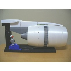 3D printer models Thrust Reverser with Turbofan Engine Nacelle, konchan77