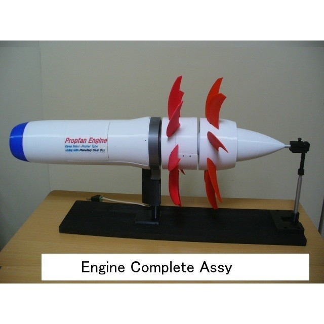 08-Engine-Complete-Assy101.jpg Download STL file Propfan Engine, Pusher Type using with Planetary Gearbox • 3D printer template, konchan77