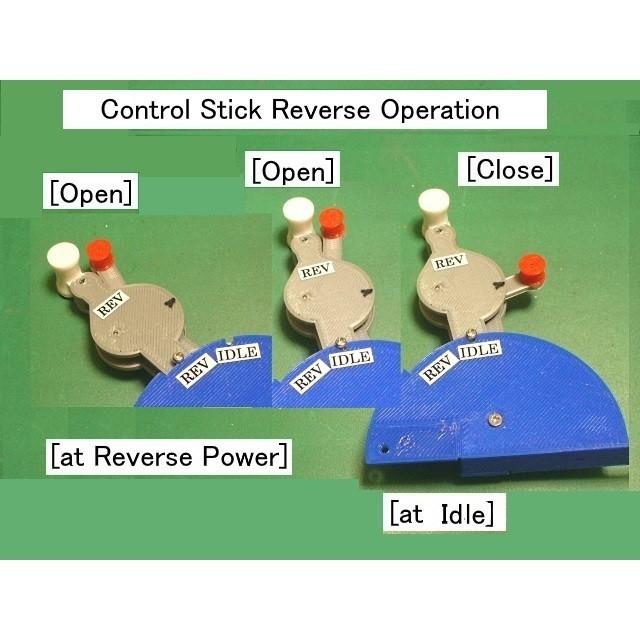 C13-Control-Stick01.jpg Download STL file Thrust Reverser with Turbofan Engine Nacelle • 3D printable model, konchan77