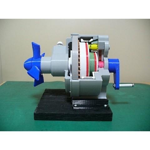 Objet 3D Composant de moteur à réaction ; couplemètre, type à engrenages planétaires, konchan77
