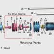 fichier imprimante 3d gratuit Moteur à réaction, Turbosoufflante à engrenages (GTF), konchan77