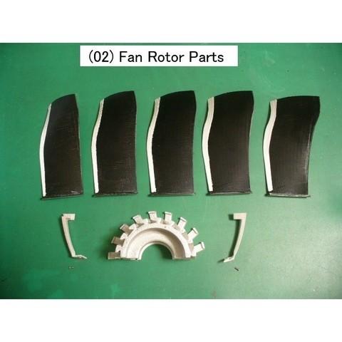 02-Fan-Rotor-Parts01.jpg Download free STL file Jet Engine Component (5); Fan • Template to 3D print, konchan77
