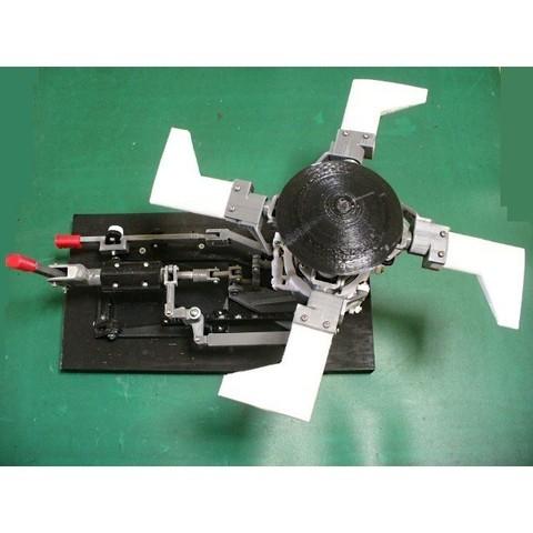Descargar archivos 3D Palos de control MRH, para helicóptero, totalmente articulados, konchan77
