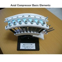 3D print model Jet Engine Component (1); Axial Compressor, konchan77