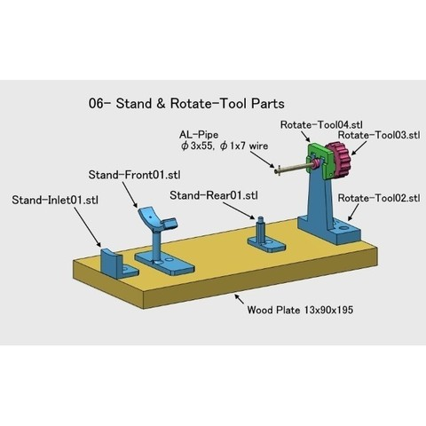 Stand-Rotate-Tool001.jpg Download free STL file Rotational Stand for Turboprop Engine Cutaway • 3D printer template, konchan77