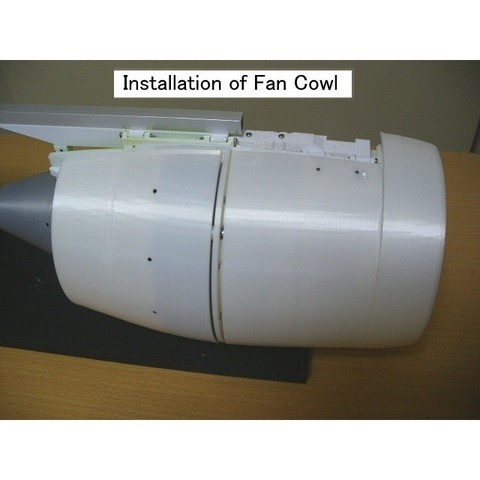 C10-Fan-Cowl-Beam01.jpg Download STL file Thrust Reverser with Turbofan Engine Nacelle • 3D printable model, konchan77