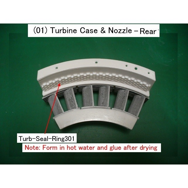01-Turb-Case-Nozzle02.jpg Download STL file Jet Engine Component (2); Axial Turbine • 3D print template, konchan77