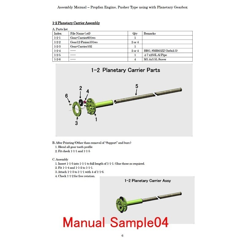 M-Sample04.jpg Download STL file Propfan Engine, Pusher Type using with Planetary Gearbox • 3D printer template, konchan77