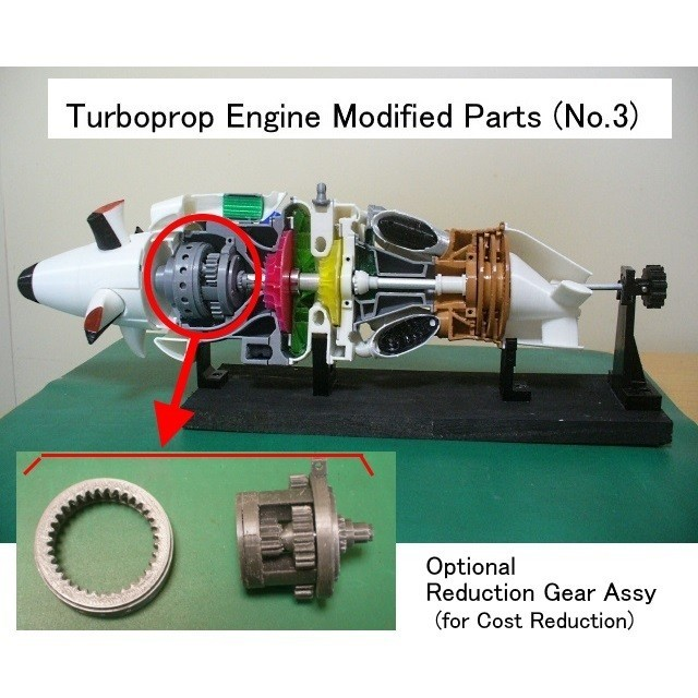 01-Red-New-Assy01.JPG Download free STL file Turboprop Engine Modified Parts (No.3) • Design to 3D print, konchan77