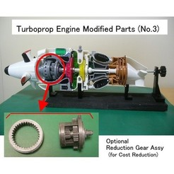 Free STL file Turboprop Engine Modified Parts (No.3), konchan77