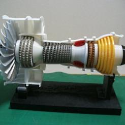 Free 3d model Jet Engine, 2-Spool, Current, konchan77