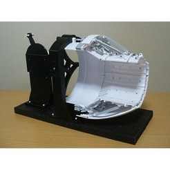 Diseños 3D Boquilla variable para motor a chorro, tipo de eslabón completo, konchan77