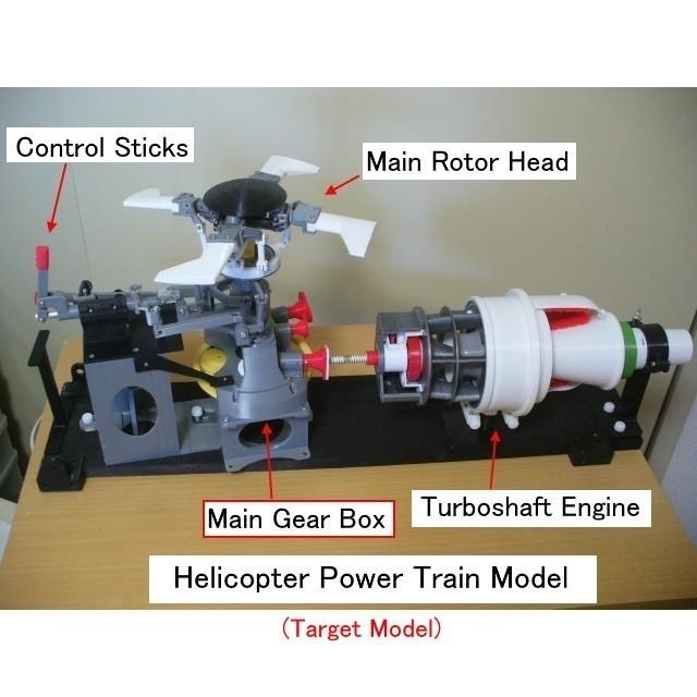 07-Target Model Image01.jpg Download STL file Main-Gear-Box, for Helicopter, Full metal bearing type • 3D printing object, konchan77