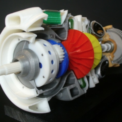 Download free 3D printer designs Turboprop Engine, konchan77