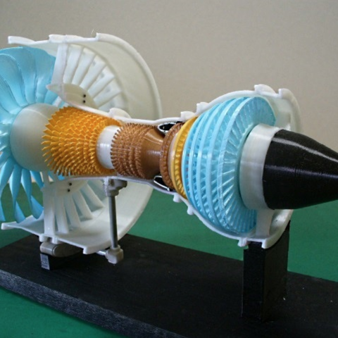 Free 3D printer model Jet Engine, 3-Spool, konchan77