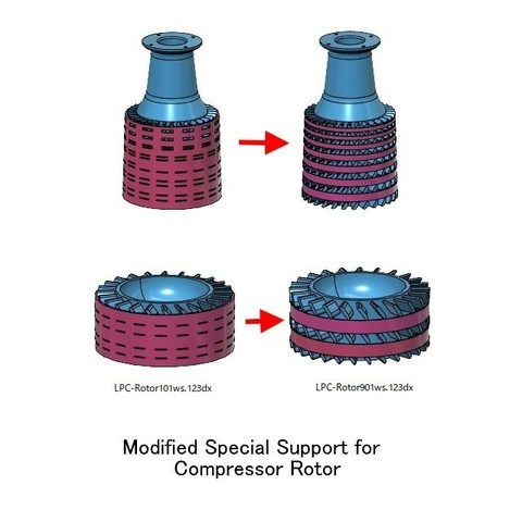 Mod-Rotor-Support01.jpg Download free STL file Jet Engine; Geared Turbofan (GTF), Modified Parts • 3D print template, konchan77