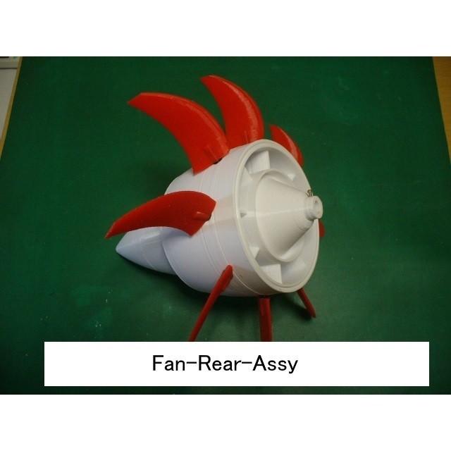 04-Fan-Rear-Assy101.jpg Download STL file Propfan Engine, Pusher Type using with Planetary Gearbox • 3D printer template, konchan77