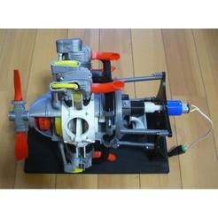 Descargar archivos STL gratis Motor radial, 7 cilindros, kit de piezas opcionales, konchan77
