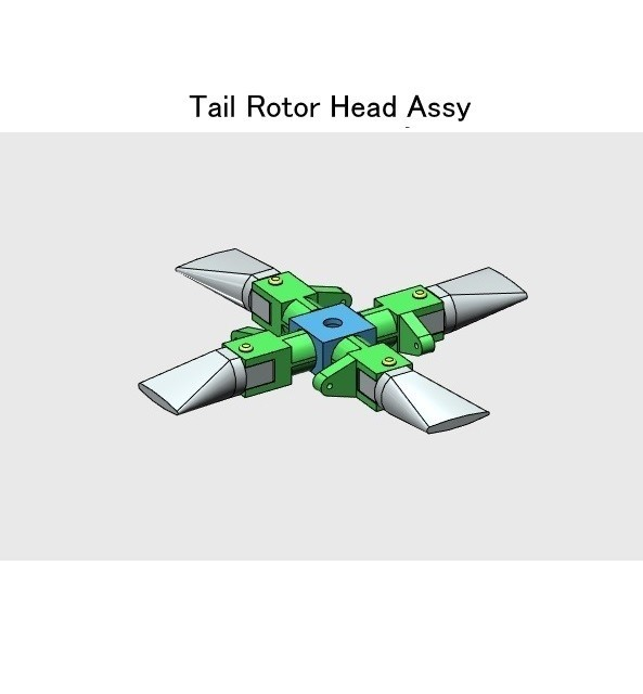 03-Rotor-Head-Assy01.jpg Download STL file Tail Rotor for Single Main Rotor Helicopter • Object to 3D print, konchan77