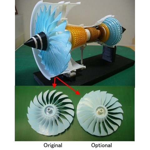 P1070182as.jpg Download free STL file Jet Engine; 3-Spool, Optional-Fan • Design to 3D print, konchan77