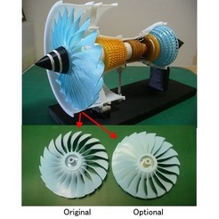 Free STL file Jet Engine; 3-Spool, Optional-Fan, konchan77