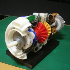 Free 3D print files Turboprop Engine Modified Parts, konchan77