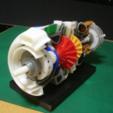 Descargar archivo 3D gratis Piezas modificadas del motor del turbopropulsor, konchan77