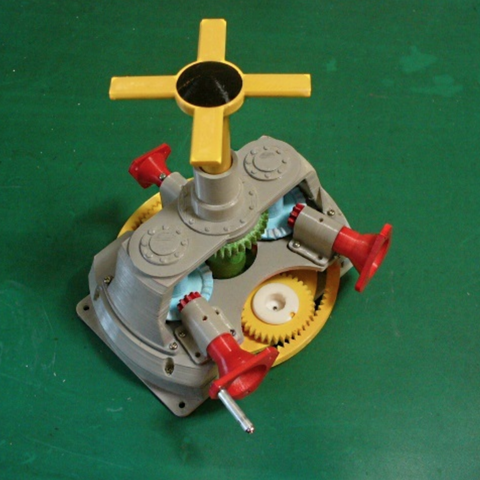 Capture d'écran 2017-10-03 à 18.55.08.png Download free STL file Main Gear Box, Helicopter driven by 2-Engines • Object to 3D print, konchan77