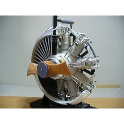 00-Engine-Assy01.jpg Download STL file Radial Engine, Water-Cooled, 1910s • 3D printing design, konchan77