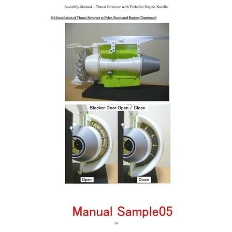 Manual-Sample05.jpg Download STL file Thrust Reverser with Turbofan Engine Nacelle • 3D printable model, konchan77