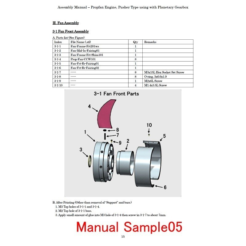 M-Sample05.jpg Download STL file Propfan Engine, Pusher Type using with Planetary Gearbox • 3D printer template, konchan77