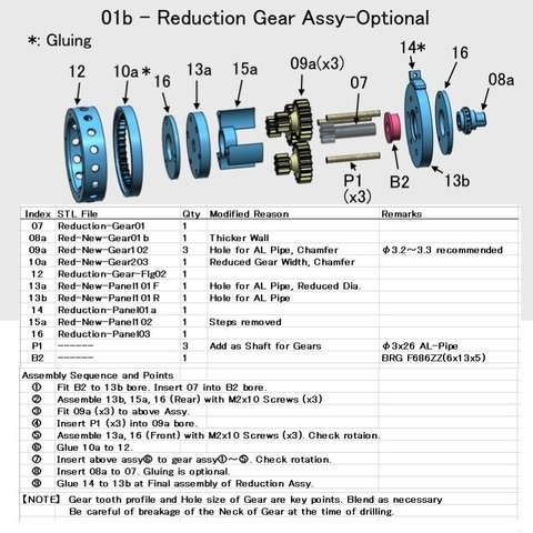 02-Red-New-Assy001.jpg Download free STL file Turboprop Engine Modified Parts (No.3) • Design to 3D print, konchan77