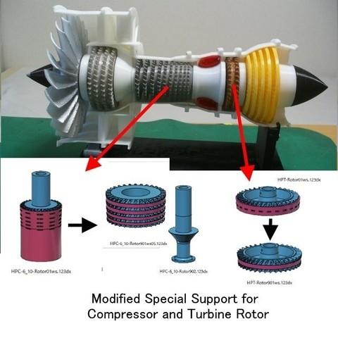 Modelos 3D gratis Motor a reacción; 2-Spool, piezas modificadas, konchan77