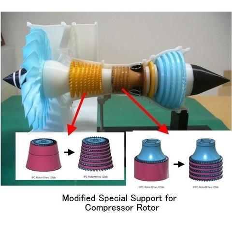 Free 3D model Jet Engine; 3-Spool, Modified Parts, konchan77