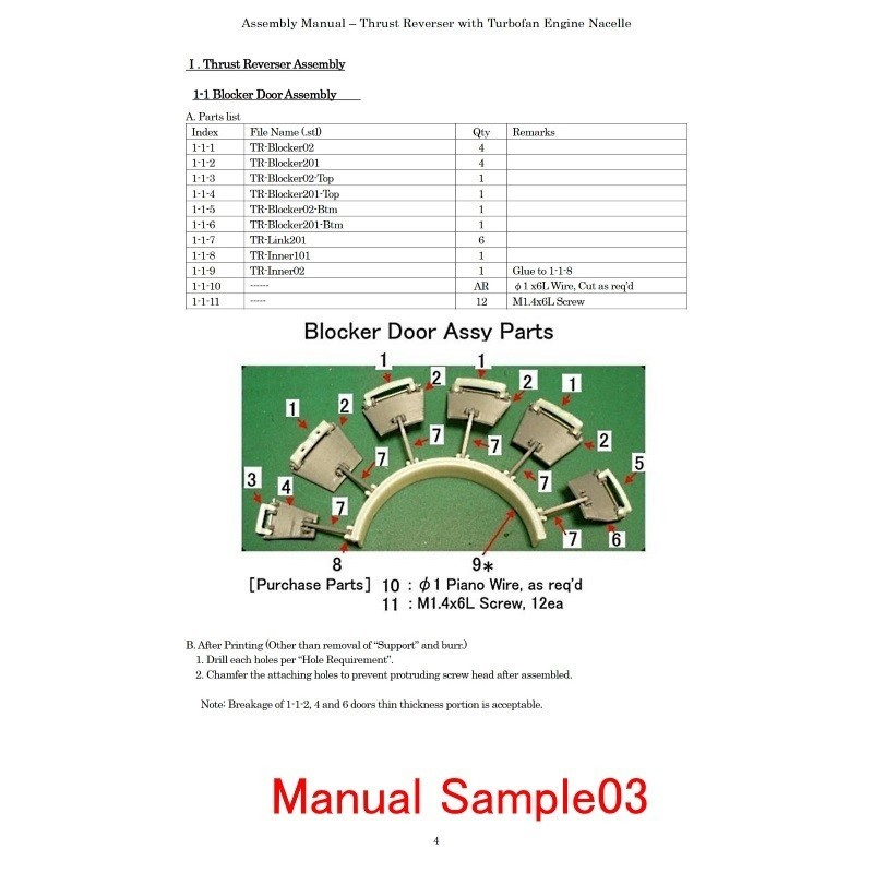 Manual-Sample03.jpg Download STL file Thrust Reverser with Turbofan Engine Nacelle • 3D printable model, konchan77