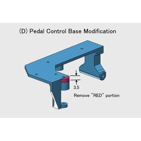 D-Pedal-Control Base01.jpg Download free STL file Helicopter Power Train for Single Main Rotor • 3D printer design, konchan77