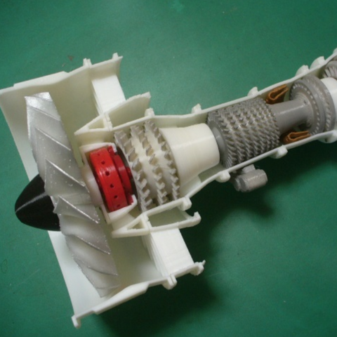 how to make a model jet engine