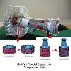 Free 3D print files Jet Engine; Geared Turbofan (GTF), Modified Parts, konchan77