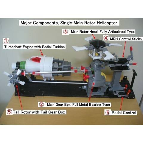 Free 3D print files Helicopter Power Train for Single Main Rotor, konchan77