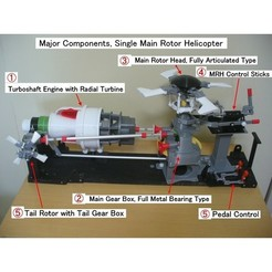 Download free 3D printing templates Helicopter Power Train for Single Main Rotor, konchan77