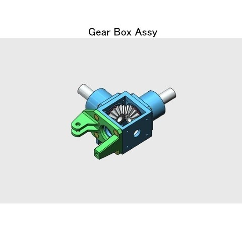 02-Gear-Box-Assy01.jpg Download STL file Tail Rotor for Single Main Rotor Helicopter • Object to 3D print, konchan77