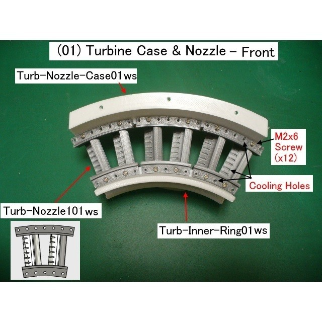 01-Turb-Case-Nozzle01.jpg Download STL file Jet Engine Component (2); Axial Turbine • 3D print template, konchan77