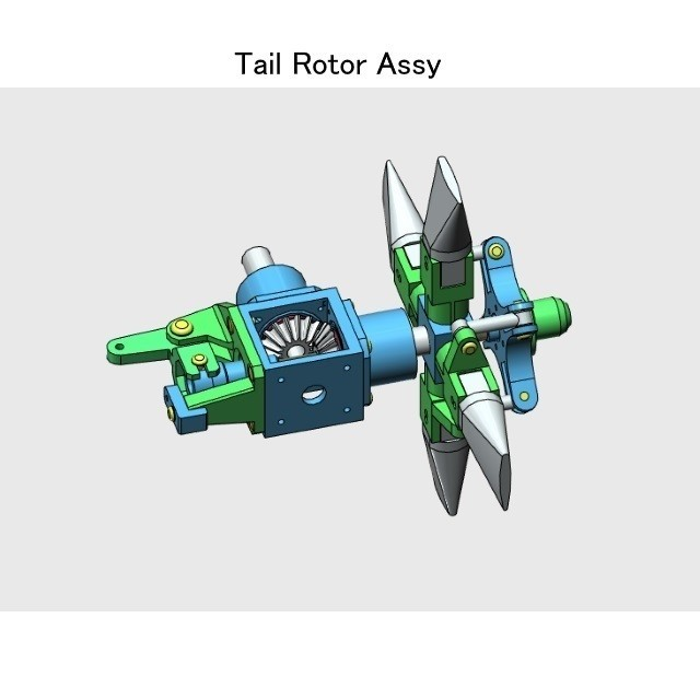 06-Rotor-Assy-Assy01.jpg Download STL file Tail Rotor for Single Main Rotor Helicopter • Object to 3D print, konchan77