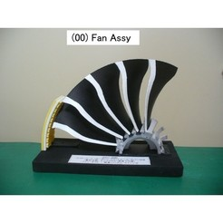 00-Fan Assy01.jpg Download free STL file Jet Engine Component (5); Fan • Template to 3D print, konchan77