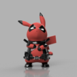 Free STL DeadPool x Pikachu, ROYLO