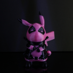 Download free STL files DeadPool x Pikachu, ROYLO