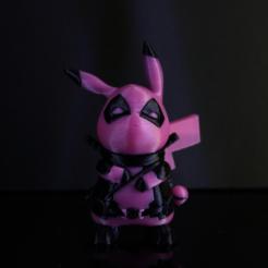 diseños 3d gratis DeadPool x Pikachu, ROYLO