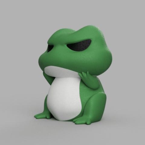 Capture d'écran 2018-02-05 à 11.03.45.png Download free STL file Travel Frog • 3D printing template, ROYLO