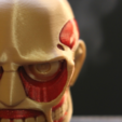 Free 3d printer model Colossal Titan Head, ROYLO